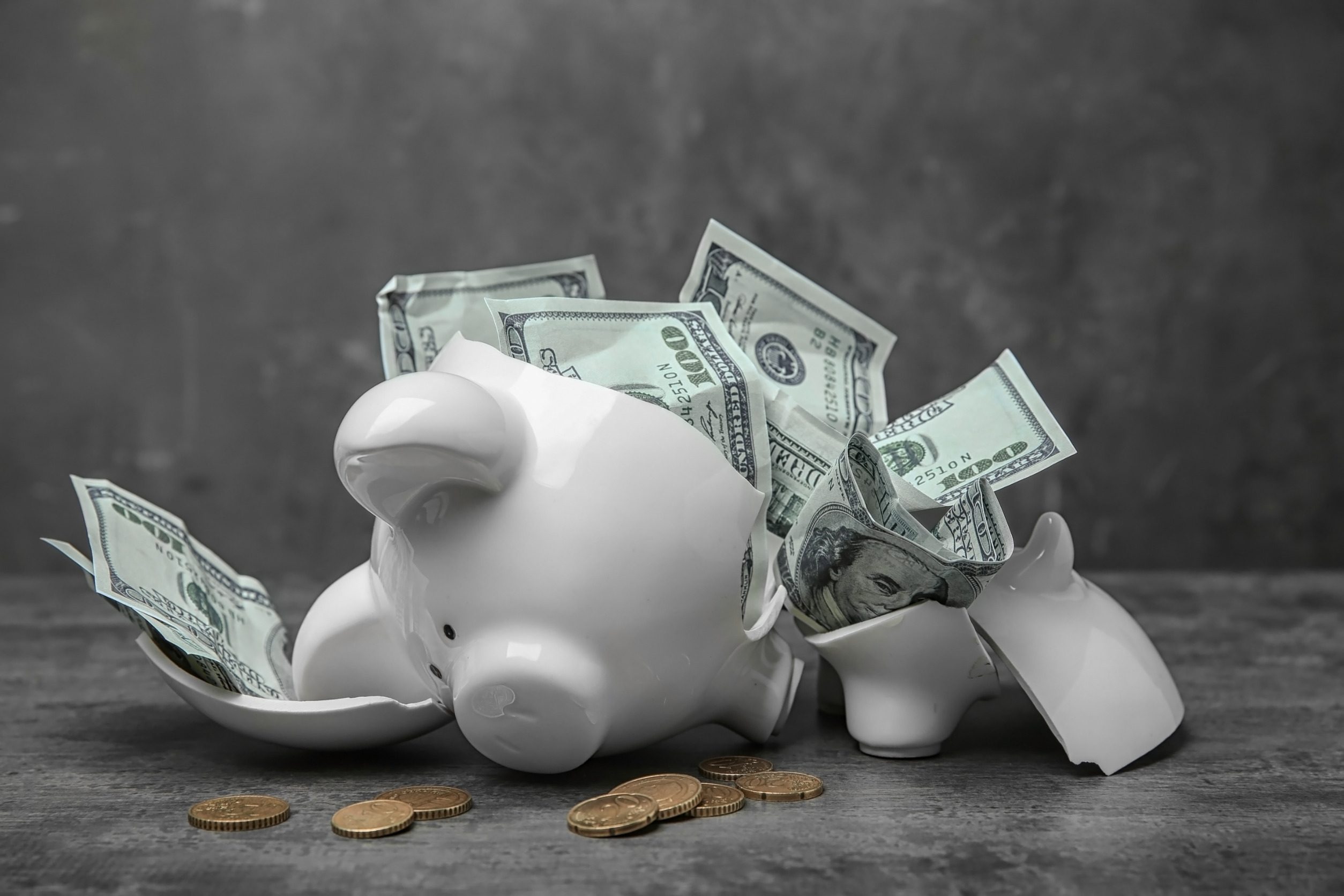 Piggy Bank busted open due to budget reasons
